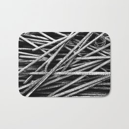 Rebar And Spring - Industrial Abstract Bath Mat