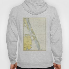 Vintage Map of The Outer Banks (1942) Hoody