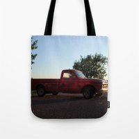 truck Tote Bags featuring Truck by Bex Finch