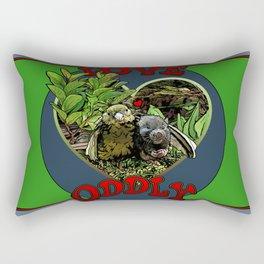 Love Oddly Rectangular Pillow