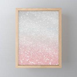 Blush Gray Princess Glitter #1 (Faux Glitter - Photography) #shiny #decor #art #society6 Framed Mini Art Print