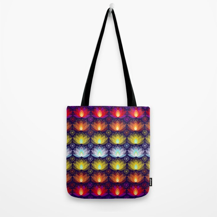 Variations on a Lotus I - Sparkle Brightly Tote Bag
