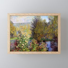 "Claude Monet ""Corner of the Garden at Montgeron"" Framed Mini Art Print"