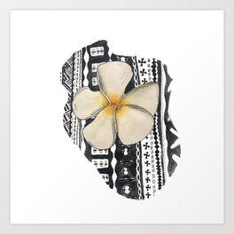 Fiji and the Frangipani Art Print