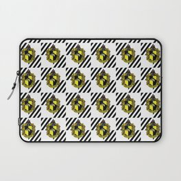 Hufflepuff Coat of Arms Checkered Print Laptop Sleeve