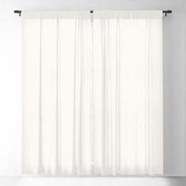 Creamy Off White Solid Color Pairs with Farrow and Ball All White 2005 - Accent to Arsenic 214 Blackout Curtain