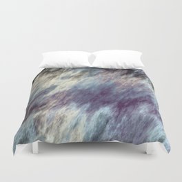 Blue Black and Purple Streaks Abstract Duvet Cover