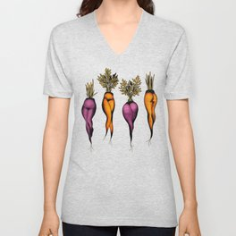Sexy carrots botanical chart tattoo flash Unisex V-Neck
