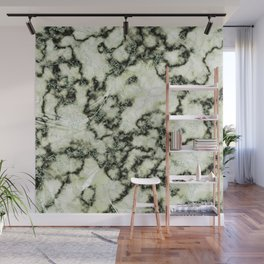 Olive Green Metallic Marble Texture Wall Mural