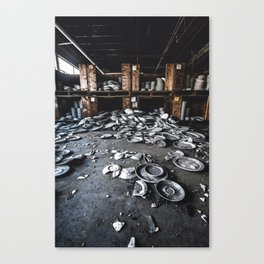 Dirty Dishes Canvas Print