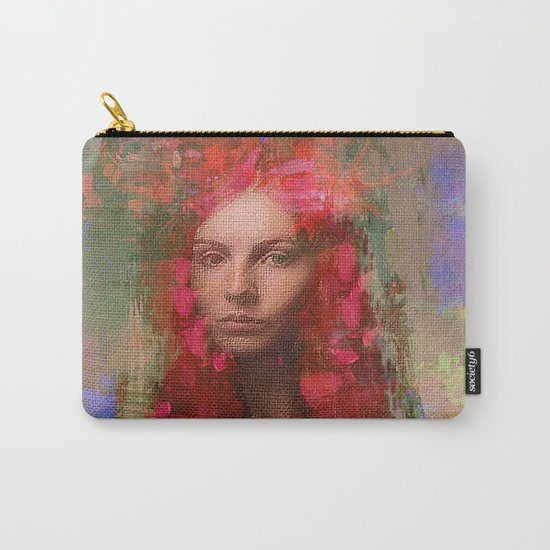 petals Lady Carry-All Pouch