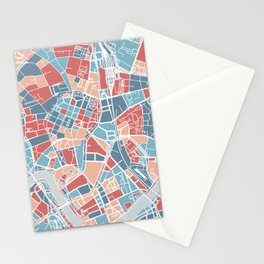 Krakow map Stationery Cards