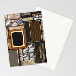 techno vintage Stationery Cards