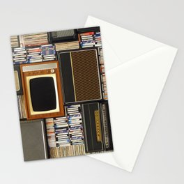 techno vintage Stationery Cards