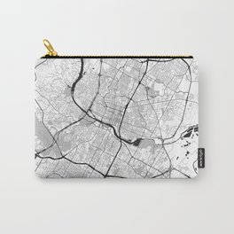 Austin Map Gray Carry-All Pouch