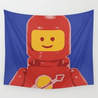 spaceman Wall Tapestries featuring Spaceman 1983 by Nick Wesley