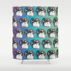 Minifigure Pattern - Cool Shower Curtain