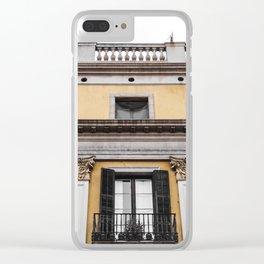 Royal Plaza Barcelona Clear iPhone Case