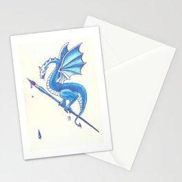 Blue Dragon Art Warrior Stationery Cards