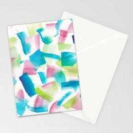 180719 Koh-I-Noor Watercolour Abstract 9 | Watercolor Brush Strokes Stationery Cards