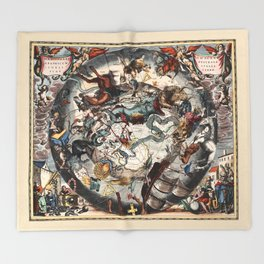 Constellations of the Southern Sky Throw Blanket