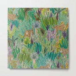 Jungle Tigers by Veronique de Jong Metal Print