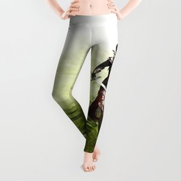 Lady knight - Warrior girl with sword concept art Leggings