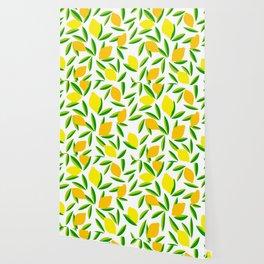 Pop Lemon & green Pattern #summervibes Wallpaper