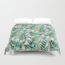 LUSH BLUSH Sunset Palms Duvet Cover