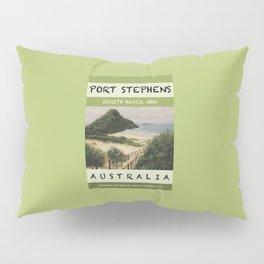 Travel Poster Zenith Beach Art Print Pillow Sham