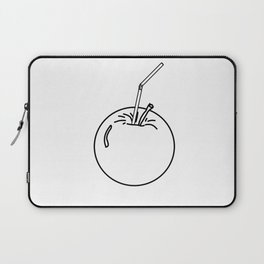an Apple and a straw ( https://society6.com/totalflora/collection ) Laptop Sleeve