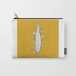 Floral Feather Design Carry-All Pouch
