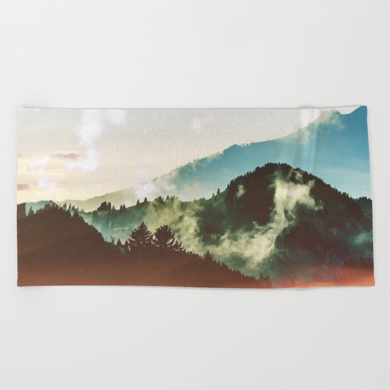 Mighty Mountain #society6 #decor #buyart Beach Towel