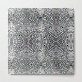 Peacock tail pattern | Bird lovers gift. Metal Print