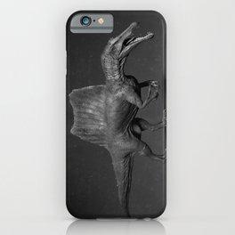 Black Spinosaurus iPhone Case