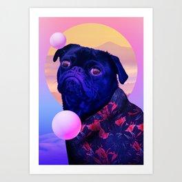 BatDog Summer Time Art Print