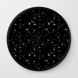 Dandelion Seeds Transgender Pride (black background) Wall Clock