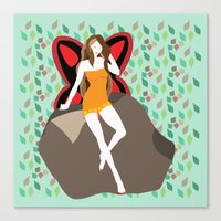 pagan Canvas Prints featuring pagan faerie by Watch House Design
