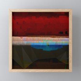 Red Pattern Digital Abstract Framed Mini Art Print