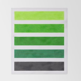 Colorful Green Stripes Throw Blanket