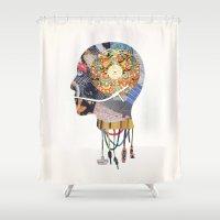 vinyl Shower Curtains featuring Vinyl Maniac by Blaz Rojs