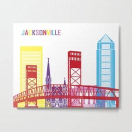 Jacksonville skyline pop Metal Print
