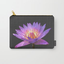 Purple Lotus Flower Geometric style Carry-All Pouch