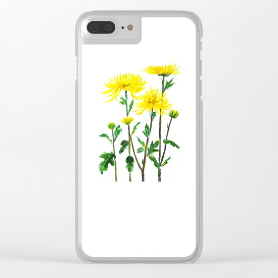 yellow chrysanthemum Clear iPhone Case