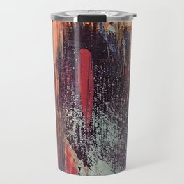 Night and Day: pretty abstract piece in orange, purple, and blues Travel Mug