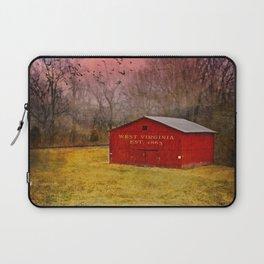 West Virginia Red Barn Laptop Sleeve