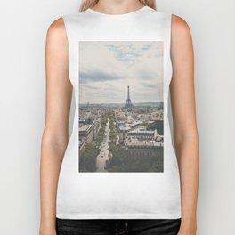 Paris from atop the Arc de Triomphe ... Biker Tank