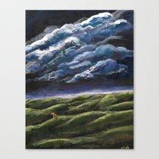 Small Dog, Big Sky Canvas Print