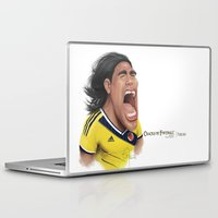 colombia Laptop & iPad Skins featuring Falcao - Colombia by Sant Toscanni