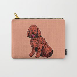 Labradoodle Illustration Carry-All Pouch